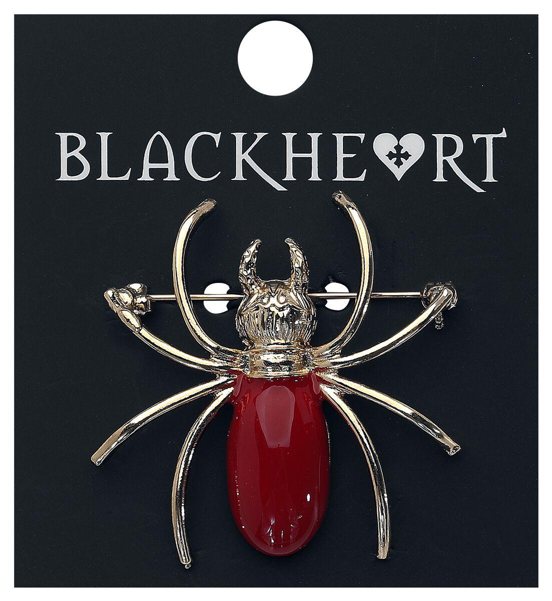 Image of   Blackheart Spider Brosche rød/guld