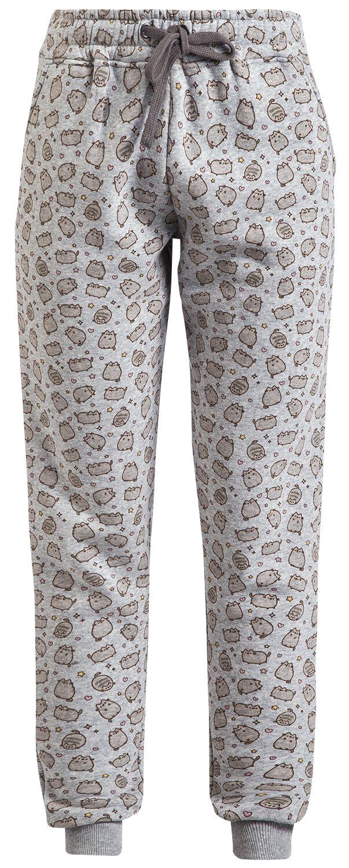 Pusheen Cat Allover Spodnie damskie odcienie jasnoszarego
