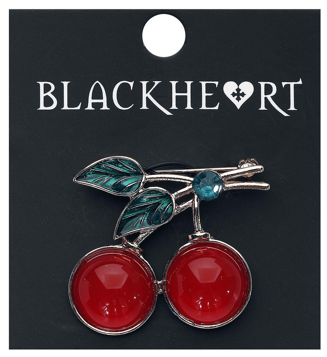 Image of   Blackheart Cherries Brosche rød/guld