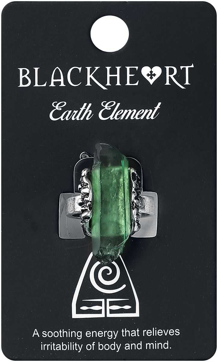 Image of   Blackheart Earth Element Crystal Ring Ring grøn