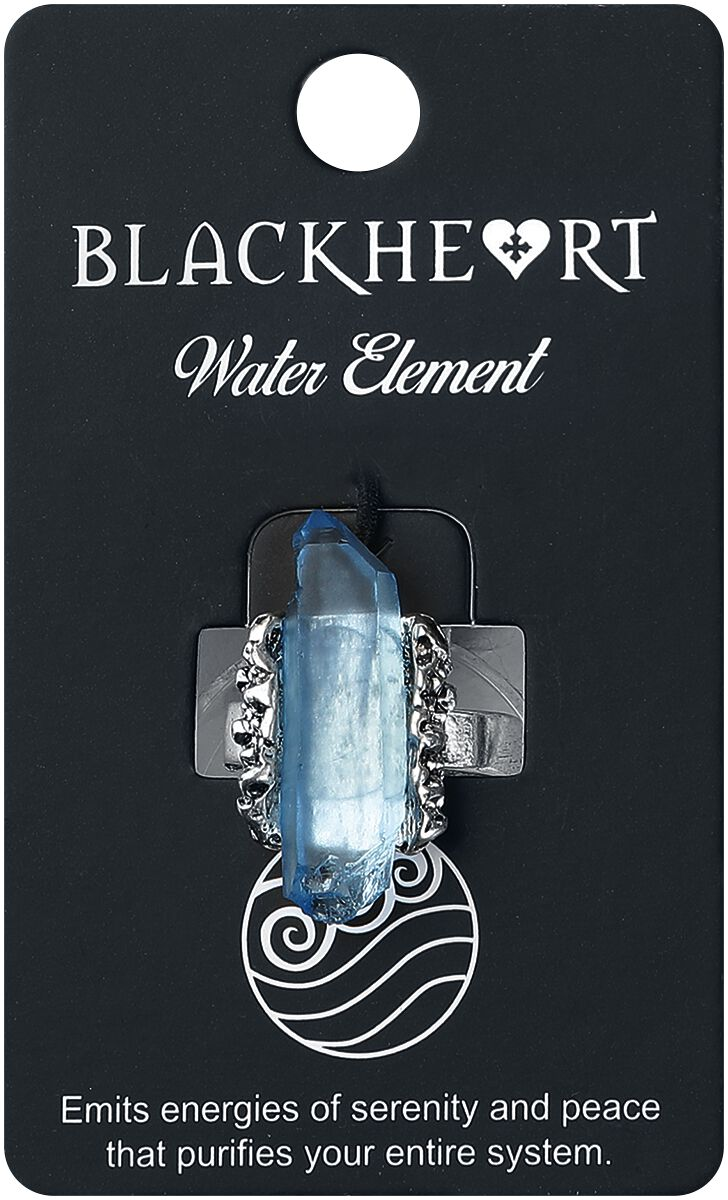Image of   Blackheart Water Element Crystal Ring Ring lys blå