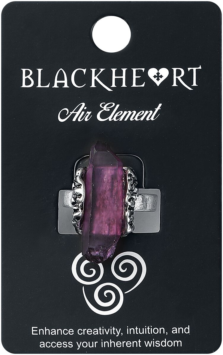 Image of   Blackheart Air Element Crystal Ring Ring lilla