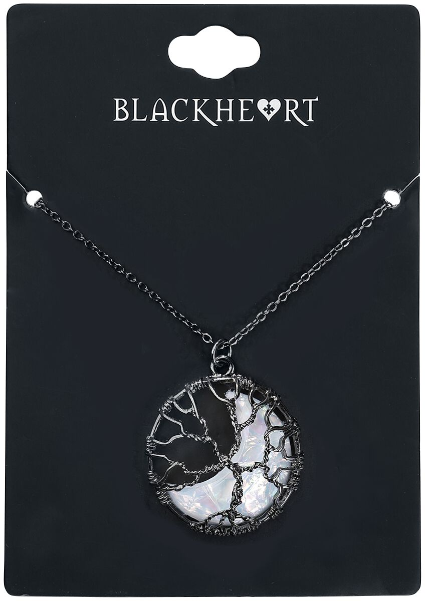 Image of   Blackheart Tree Moonstone Halskæde sort