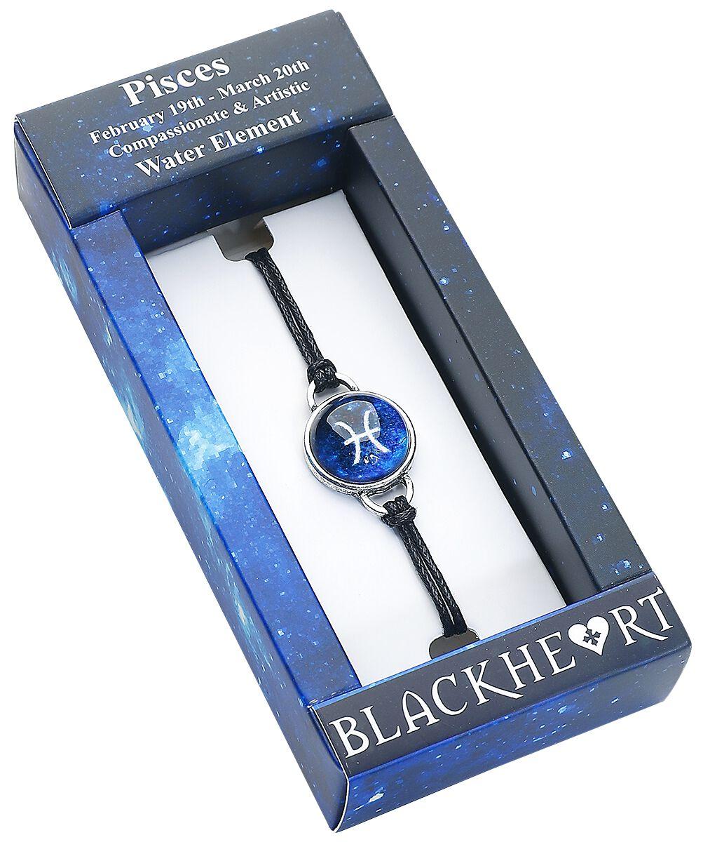 Image of   Blackheart Fiskene stjernetegn Armbånd blå
