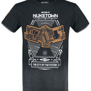 Call Of Duty Nuketown T-shirt gris foncé