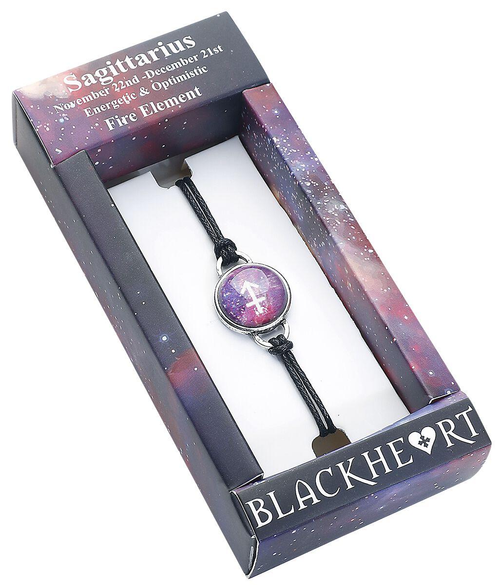 Image of   Blackheart Skytten stjernetegn Armbånd lilla