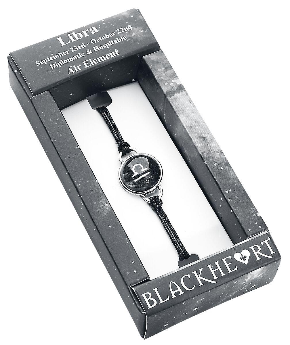 Image of   Blackheart Vægten stjernetegn Armbånd sort