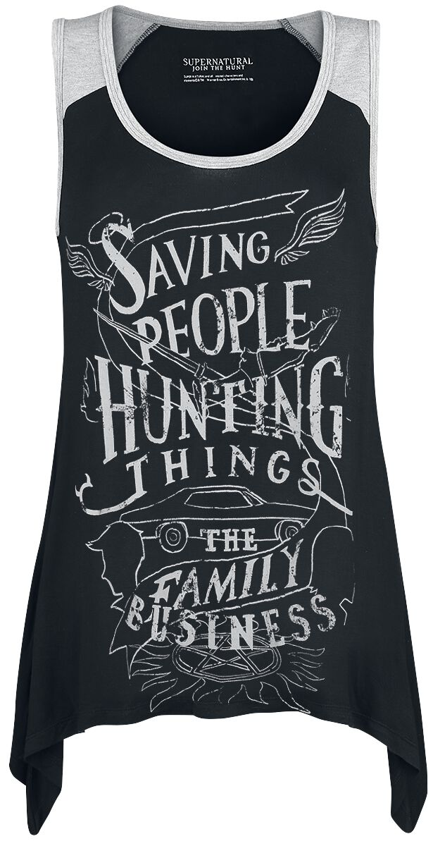 Image of   Supernatural Saving People Hunting Things Girlie top sort