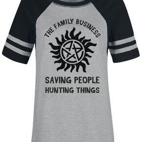Supernatural Family T-shirt Femme gris chiné/noir