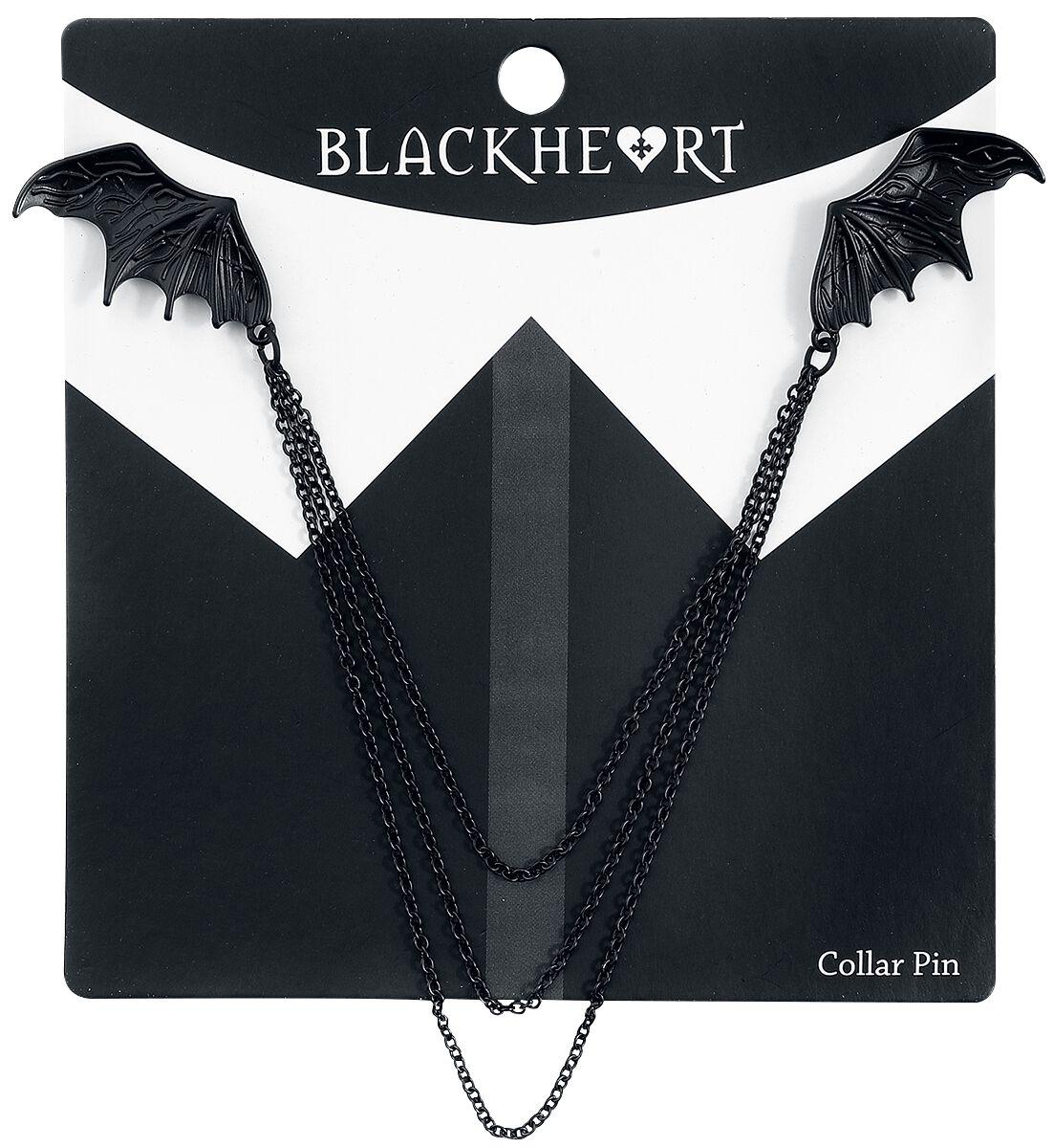 Image of   Blackheart Bat Kragen-Pin Nål sort