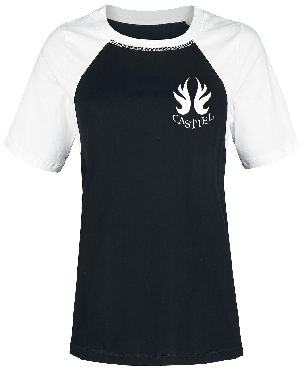 Image of   Supernatural Castiel Girlie trøje sort-hvid