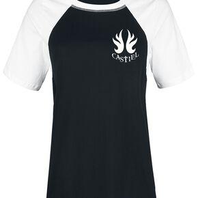 Supernatural Castiel T-shirt Femme noir/blanc