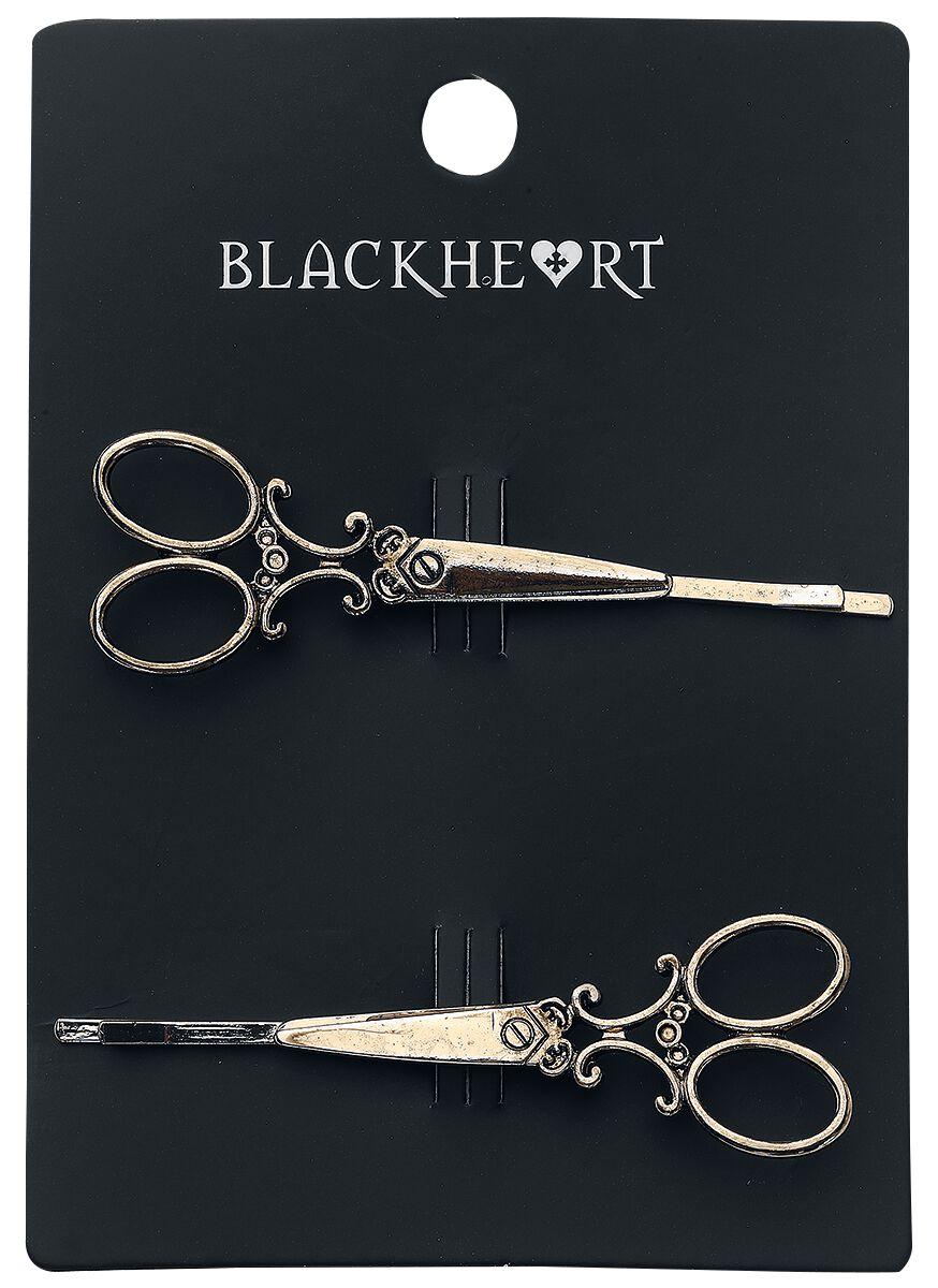 Image of   Blackheart Bronze Scissor Barrettes Set Hårspænde Bronzefarvet