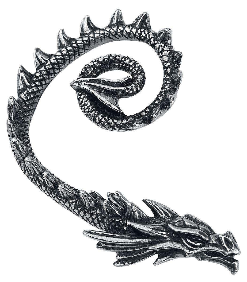 Image of   Alchemy Gothic Ostrogoth Dragon Ørestik sølvfarvet