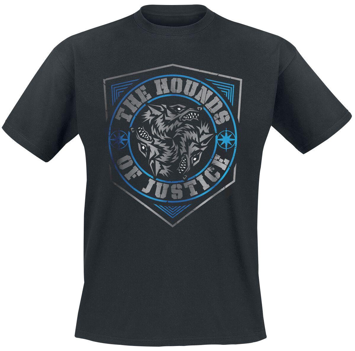 Merch dla Fanów - Koszulki - T-Shirt WWE The Shield - The Hounds Of Justice T-Shirt czarny - 376795