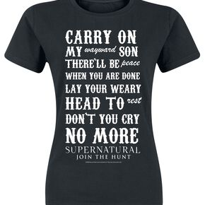 Supernatural Carry On T-shirt Femme noir
