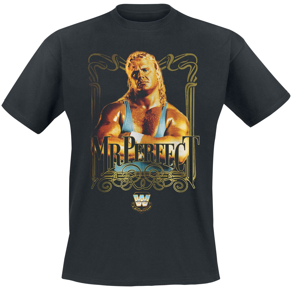 Merch dla Fanów - Koszulki - T-Shirt WWE Curt Hennig - Mr. Perfect T-Shirt czarny - 376806