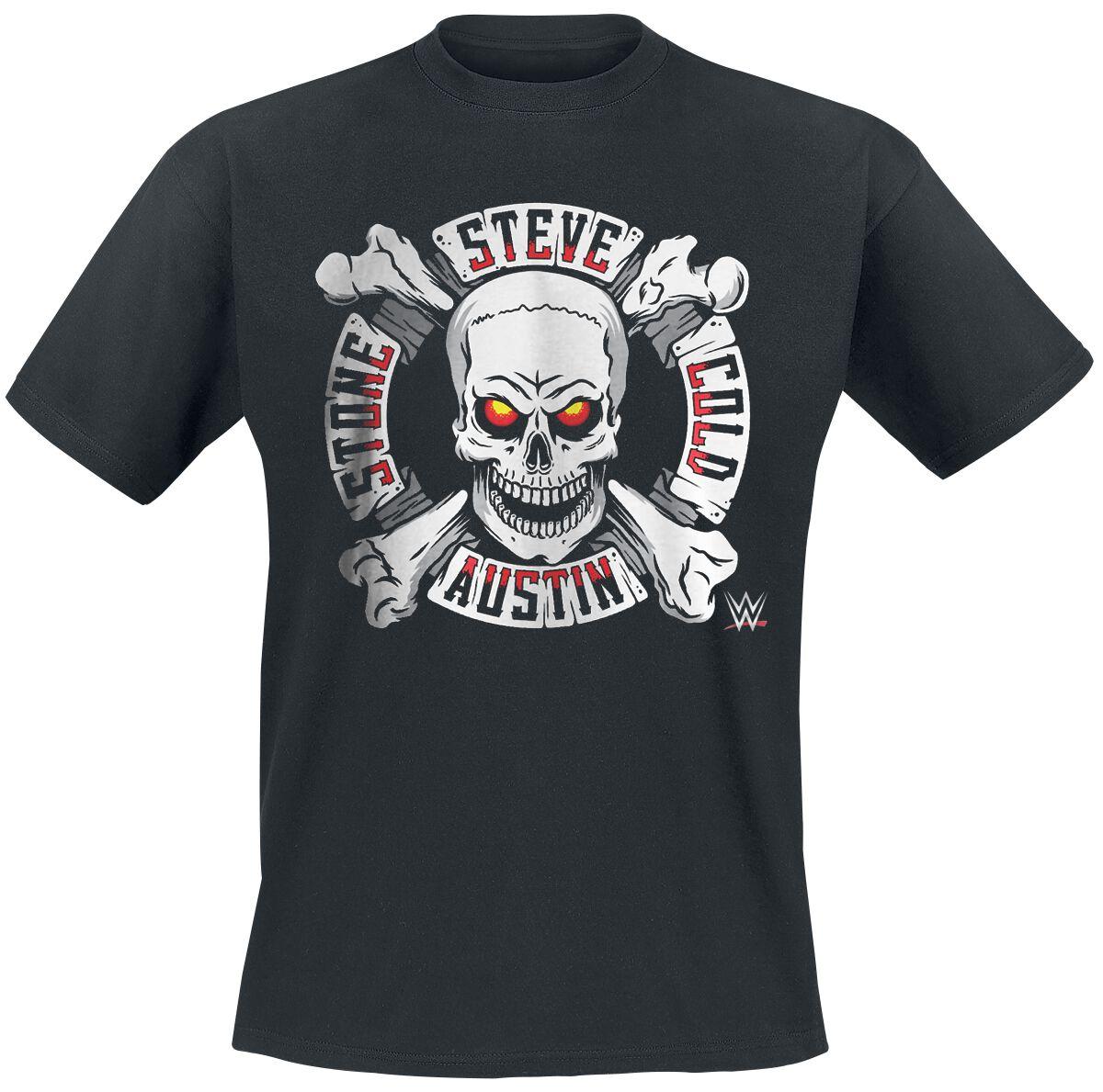 Merch dla Fanów - Koszulki - T-Shirt WWE Steve Austin - Stone Cold T-Shirt czarny - 376813
