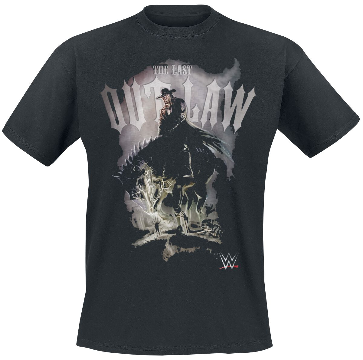 Merch dla Fanów - Koszulki - T-Shirt WWE The Undertaker - The Last Outlaw T-Shirt czarny - 376826