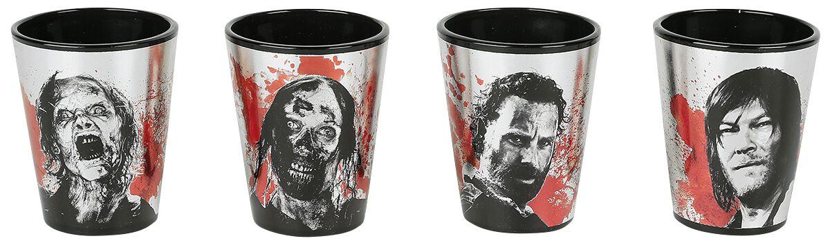 Image of   The Walking Dead Charaktere Shotglas, sæt multifarvet