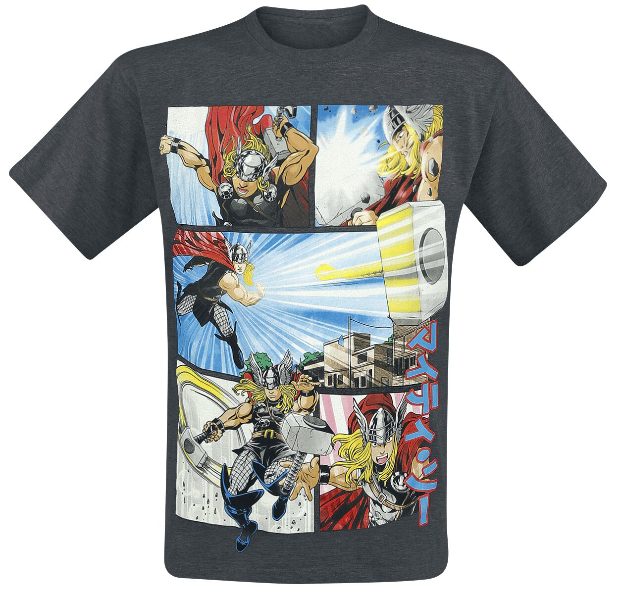 Image of   Thor Anime Panels T-Shirt blandet koks