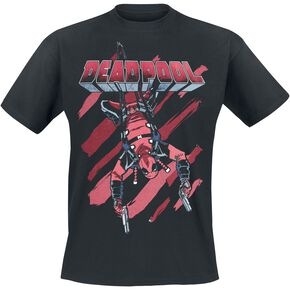 Deadpool Prime Stripes T-shirt noir