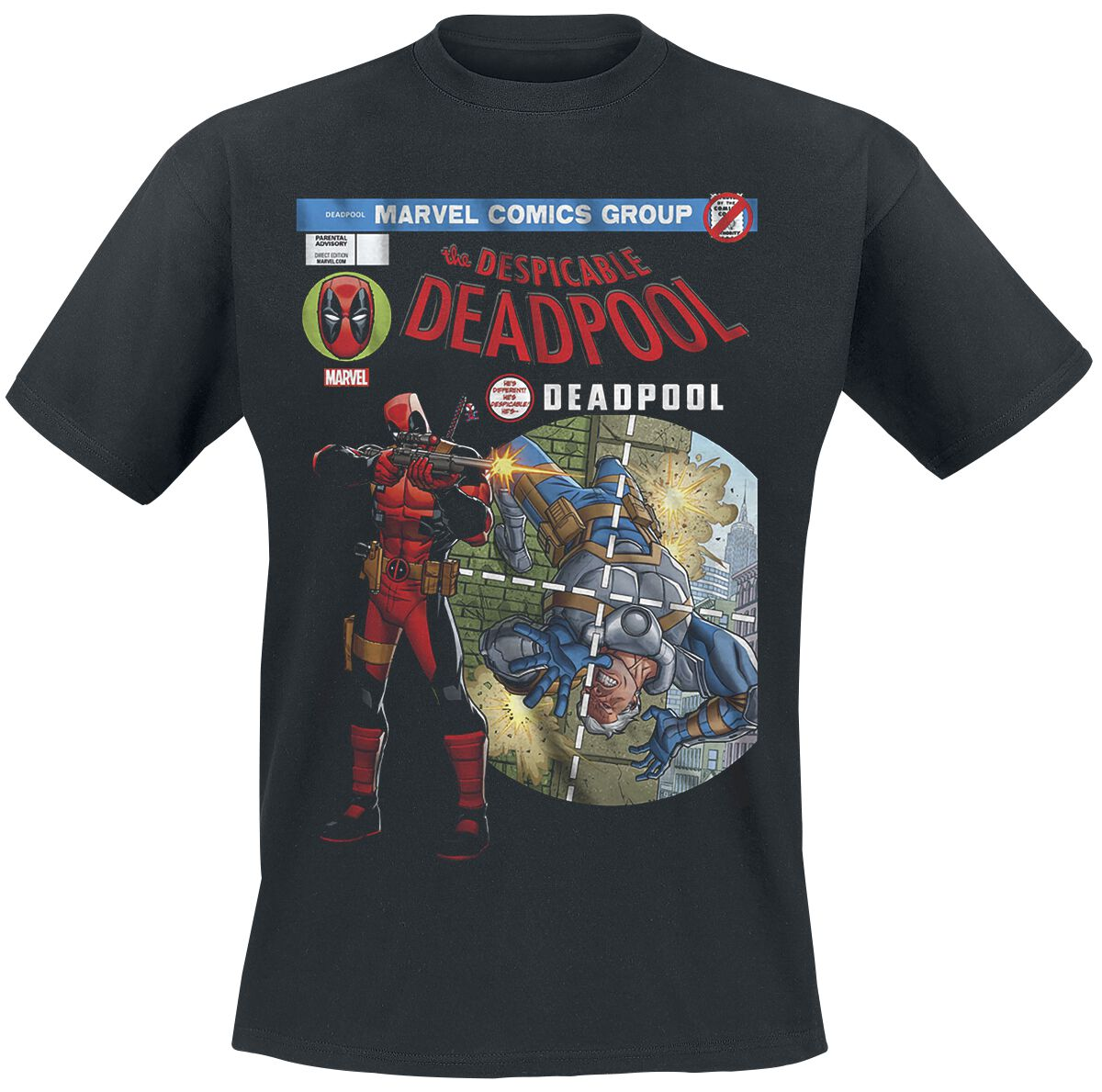 Image of   Deadpool Despicable Cover T-Shirt sort