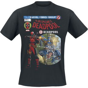 Deadpool Despicable Cover T-shirt noir