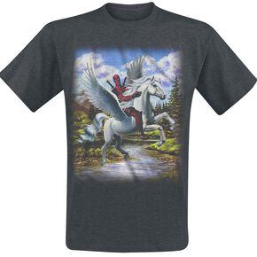 Deadpool Paints T-shirt gris chiné
