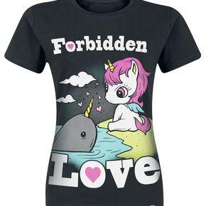 Unicorn Forbidden Love T-shirt Femme noir