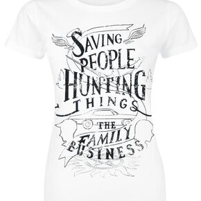 Supernatural Saving People Hunting Things T-shirt Femme blanc