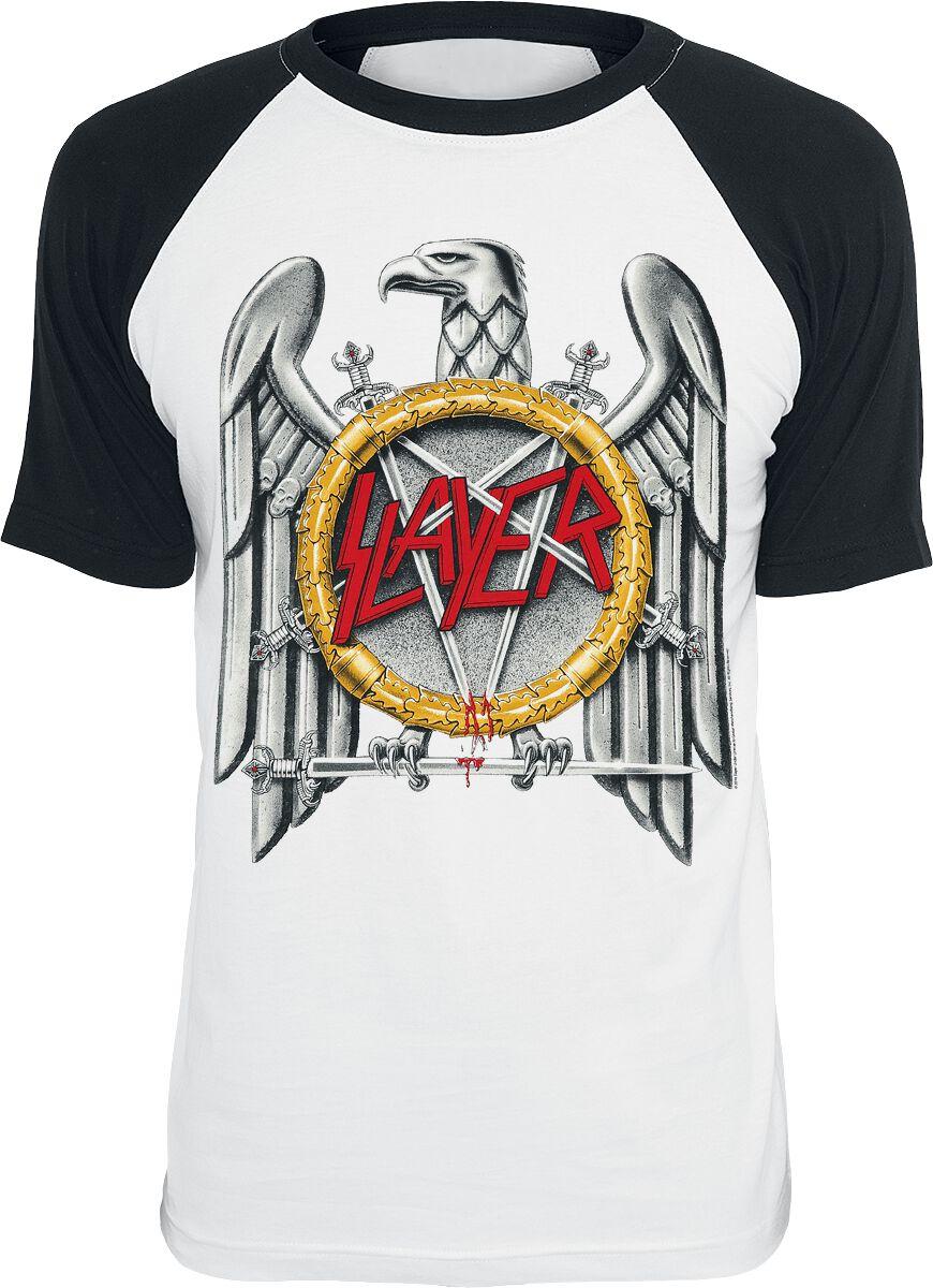 Image of   Slayer Eagle T-Shirt hvid-sort