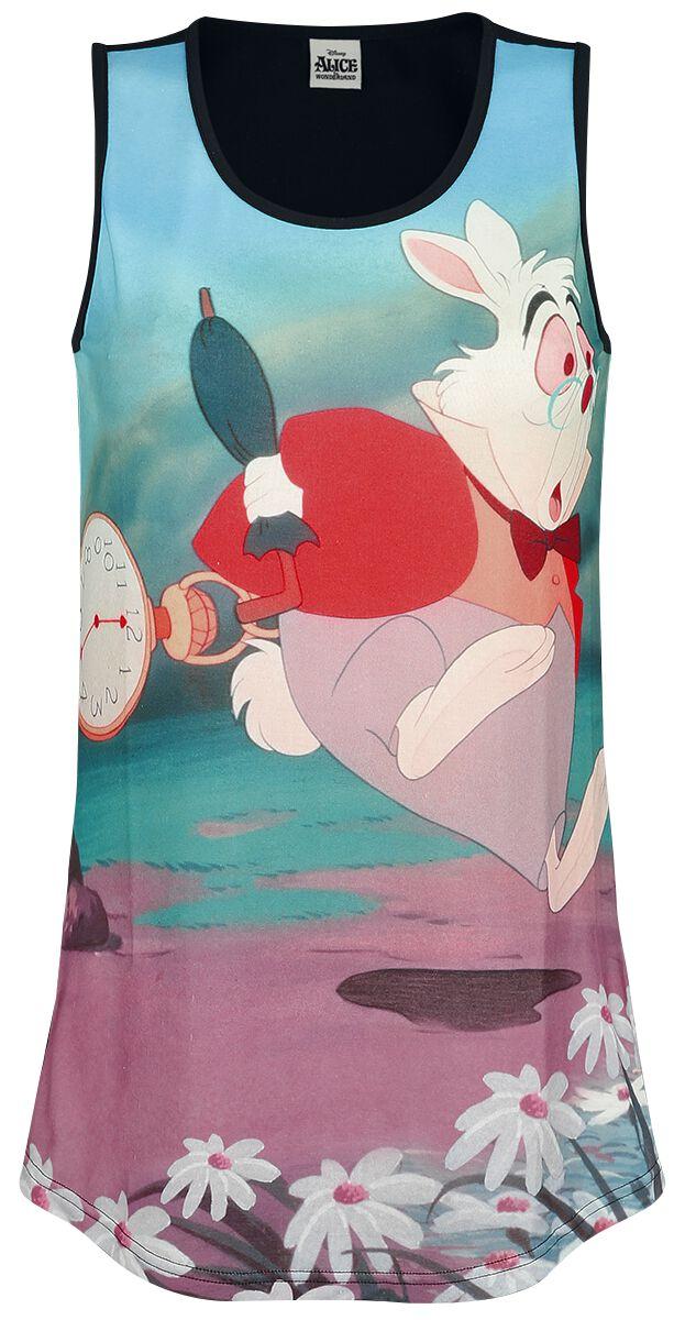 Image of   Alice i Eventyrland Fashionably Late Girlie top multifarvet