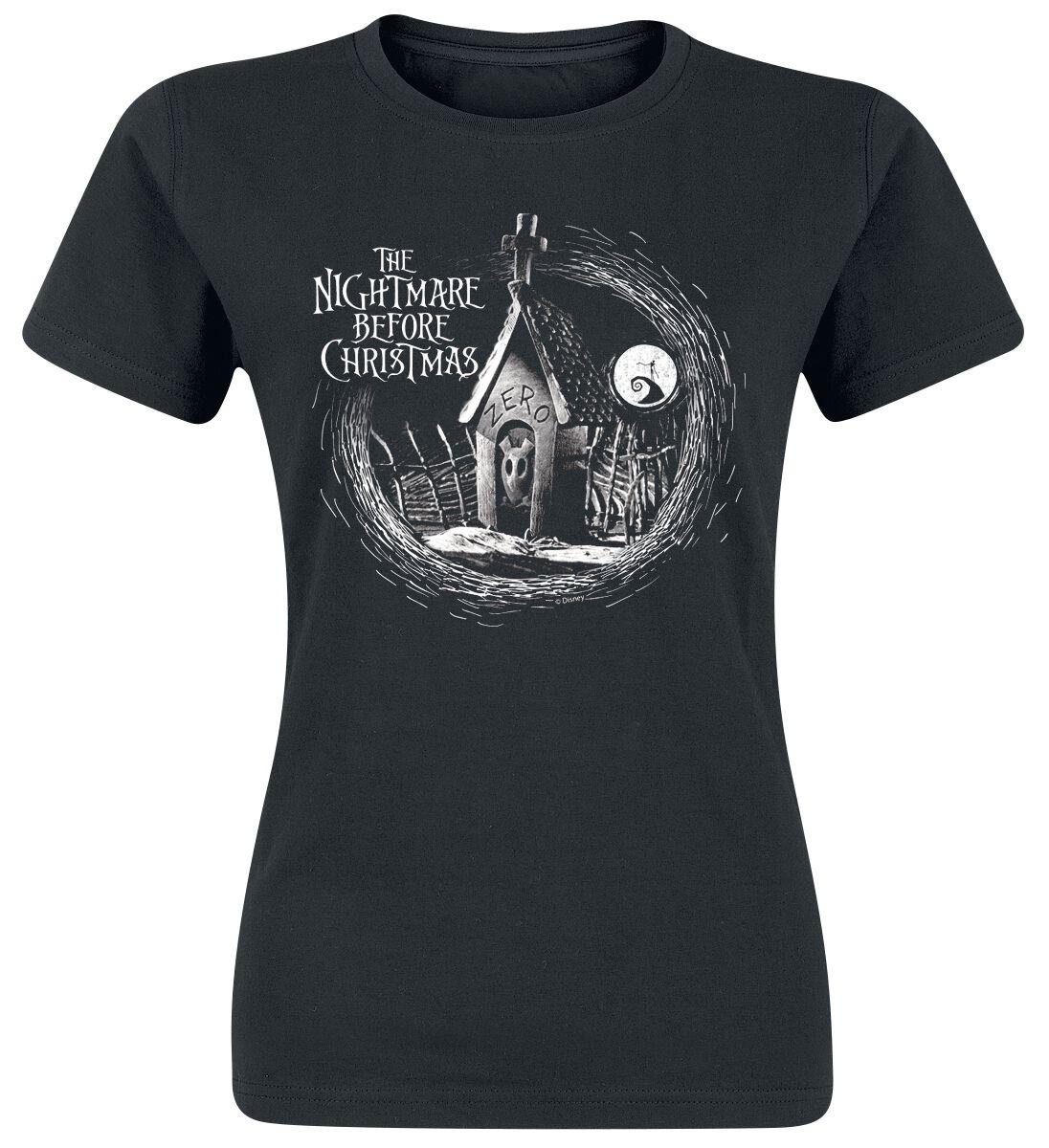Image of   The Nightmare Before Christmas Zero Girlie trøje sort