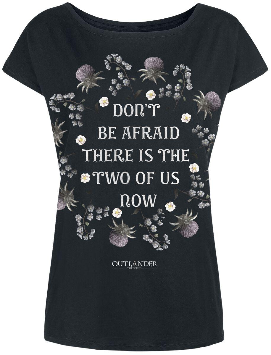 Outlander Don't Be Afraid Koszulka damska czarny