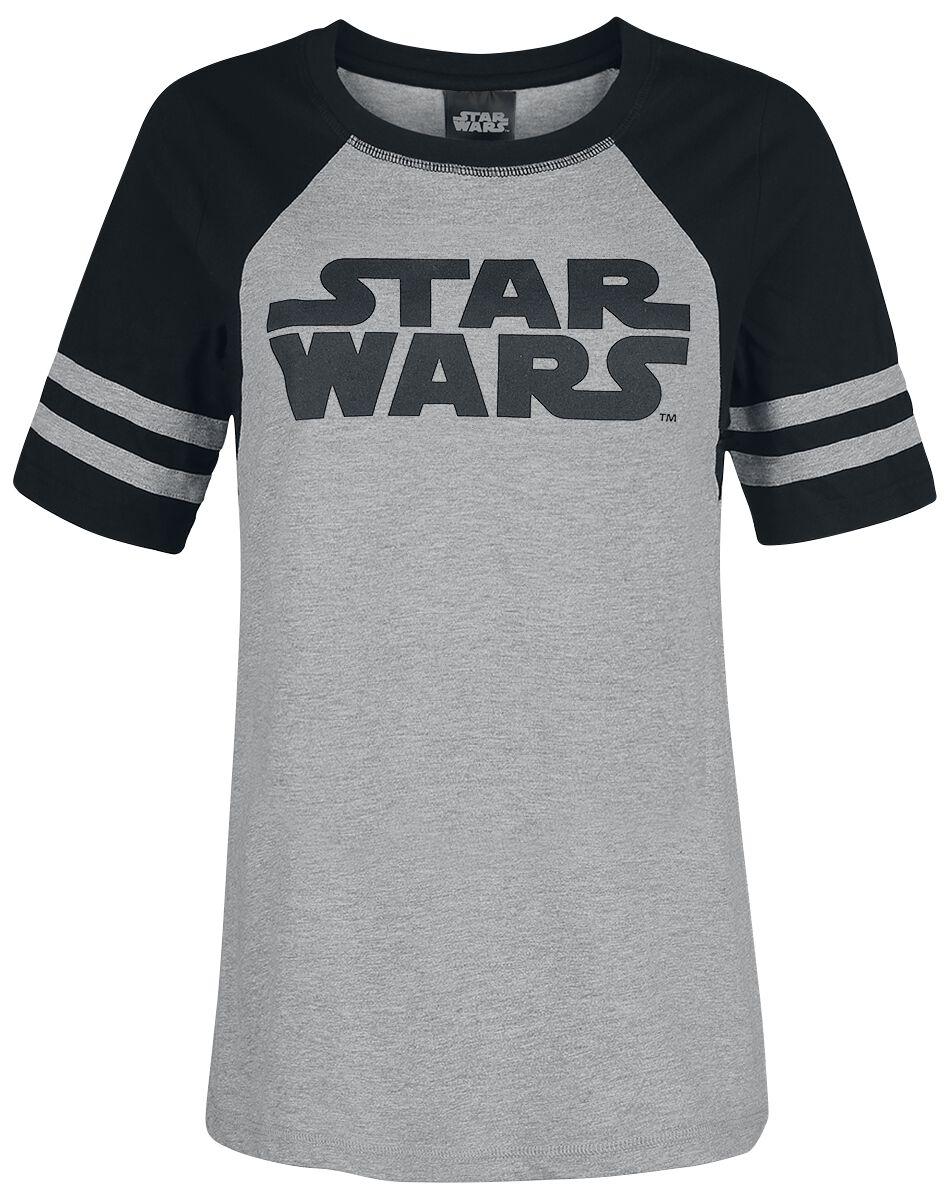 Star Wars Logo Koszulka damska odcienie szarego/czarny