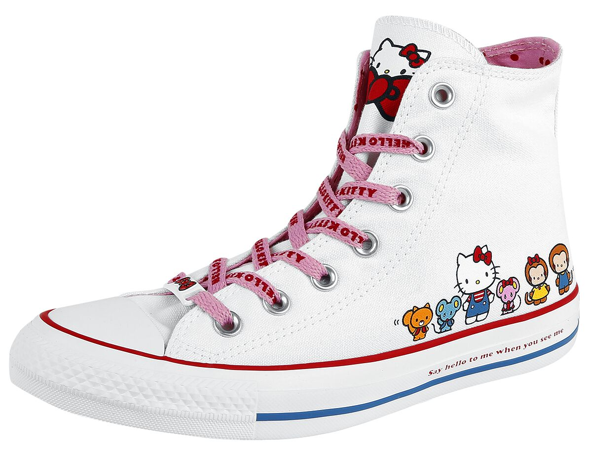Image of   Converse Hello Kitty - Chuck Taylor All Star Hi Sneakers hvid