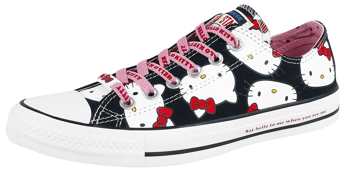 Image of   Converse Hello Kitty - Chuck Taylor All Star Ox Sneakers sort-hvid