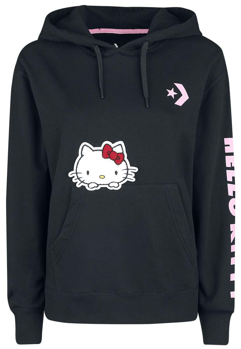 Image of   Converse Hello Kitty - Oversized PO Hoodie Girlie hættetrøje sort
