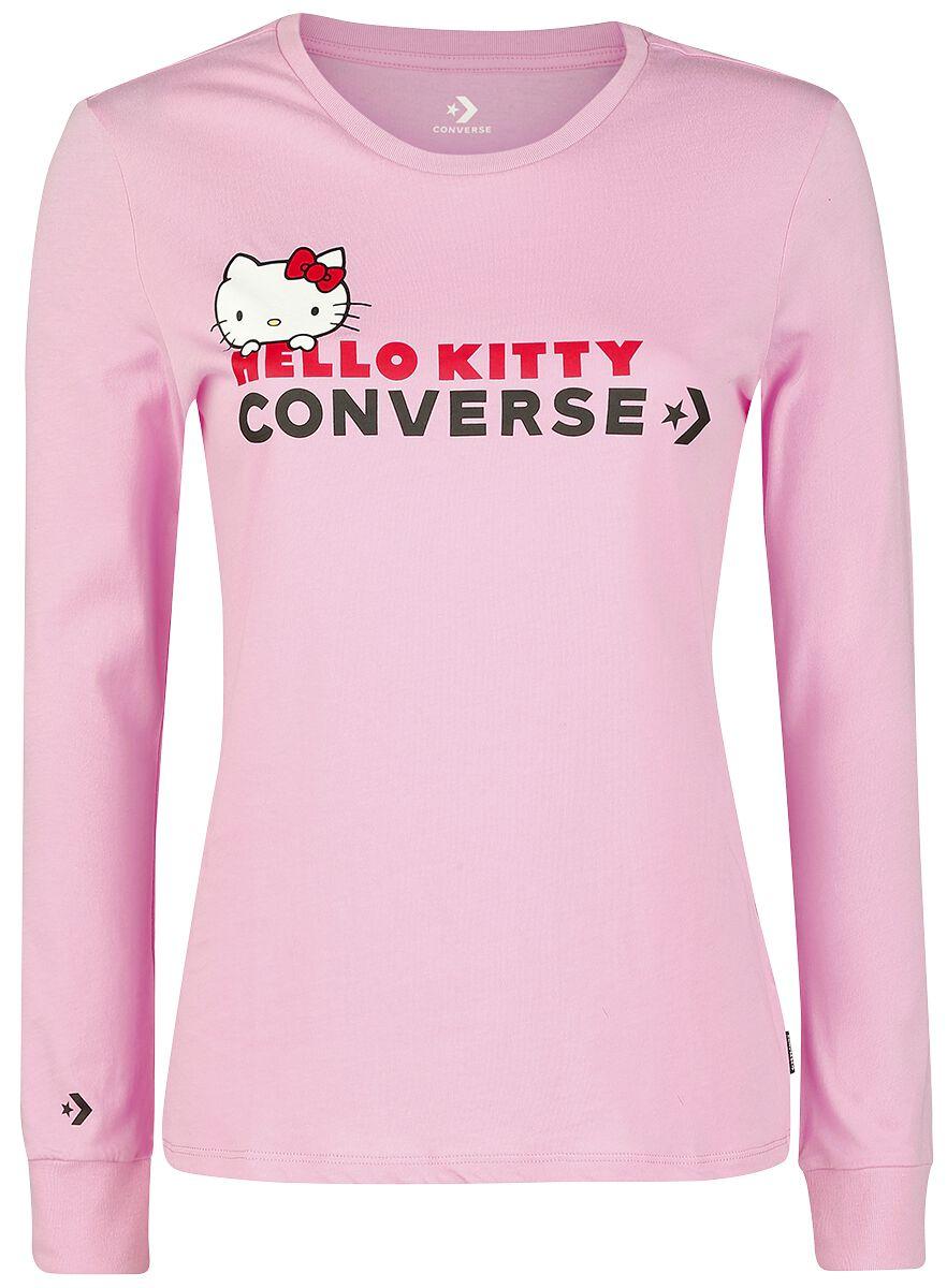 Image of   Converse Hello Kitty - LS Tee Slim Girlie langærmet lys pink
