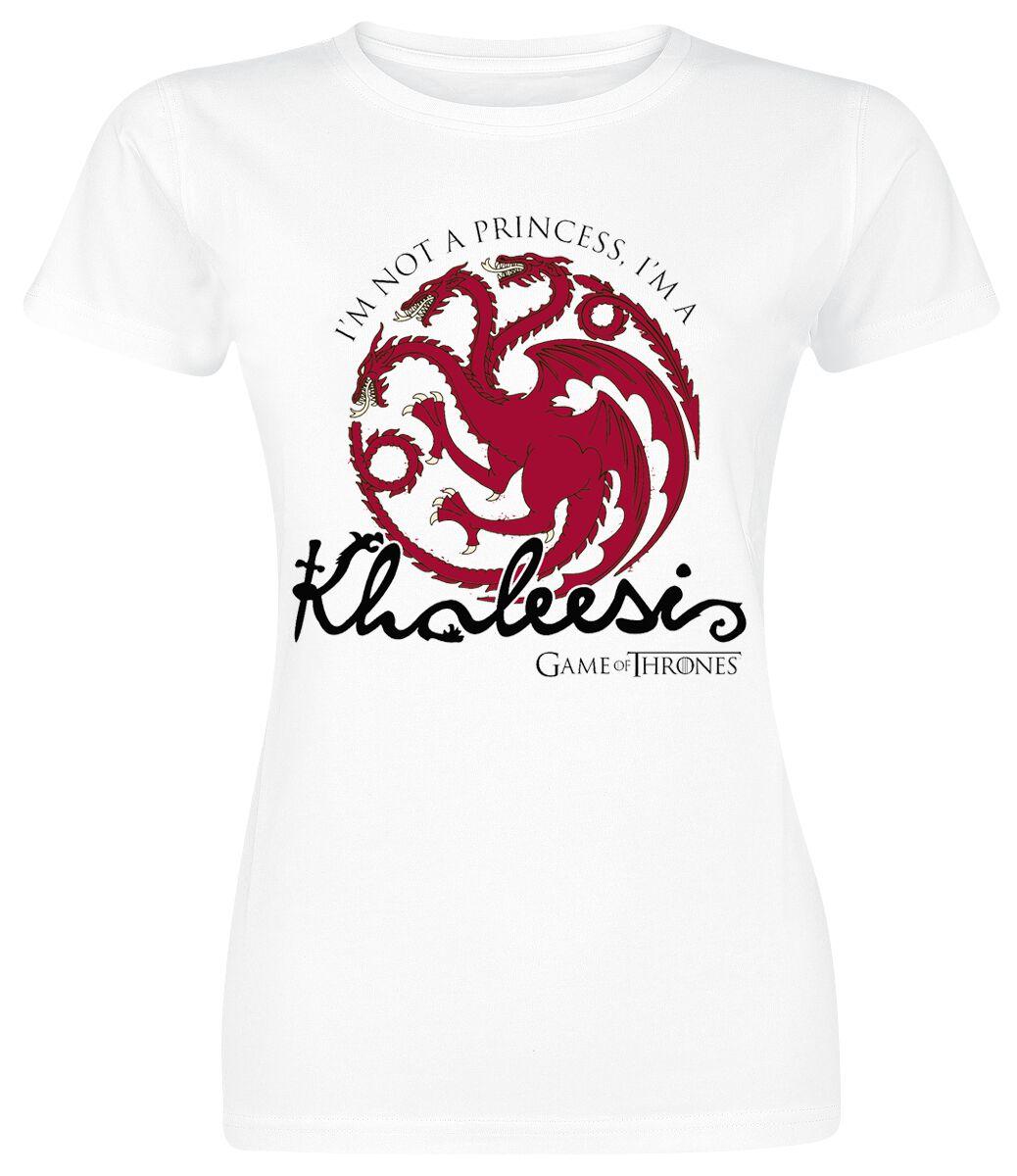 Image of   Game Of Thrones Khaleesi Girlie trøje hvid