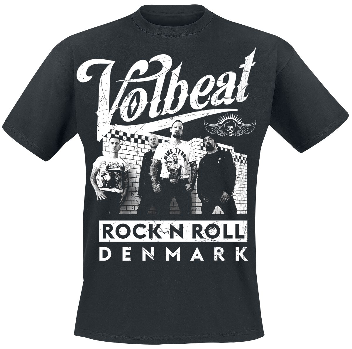 Image of   Volbeat Brickwall Pose T-Shirt sort