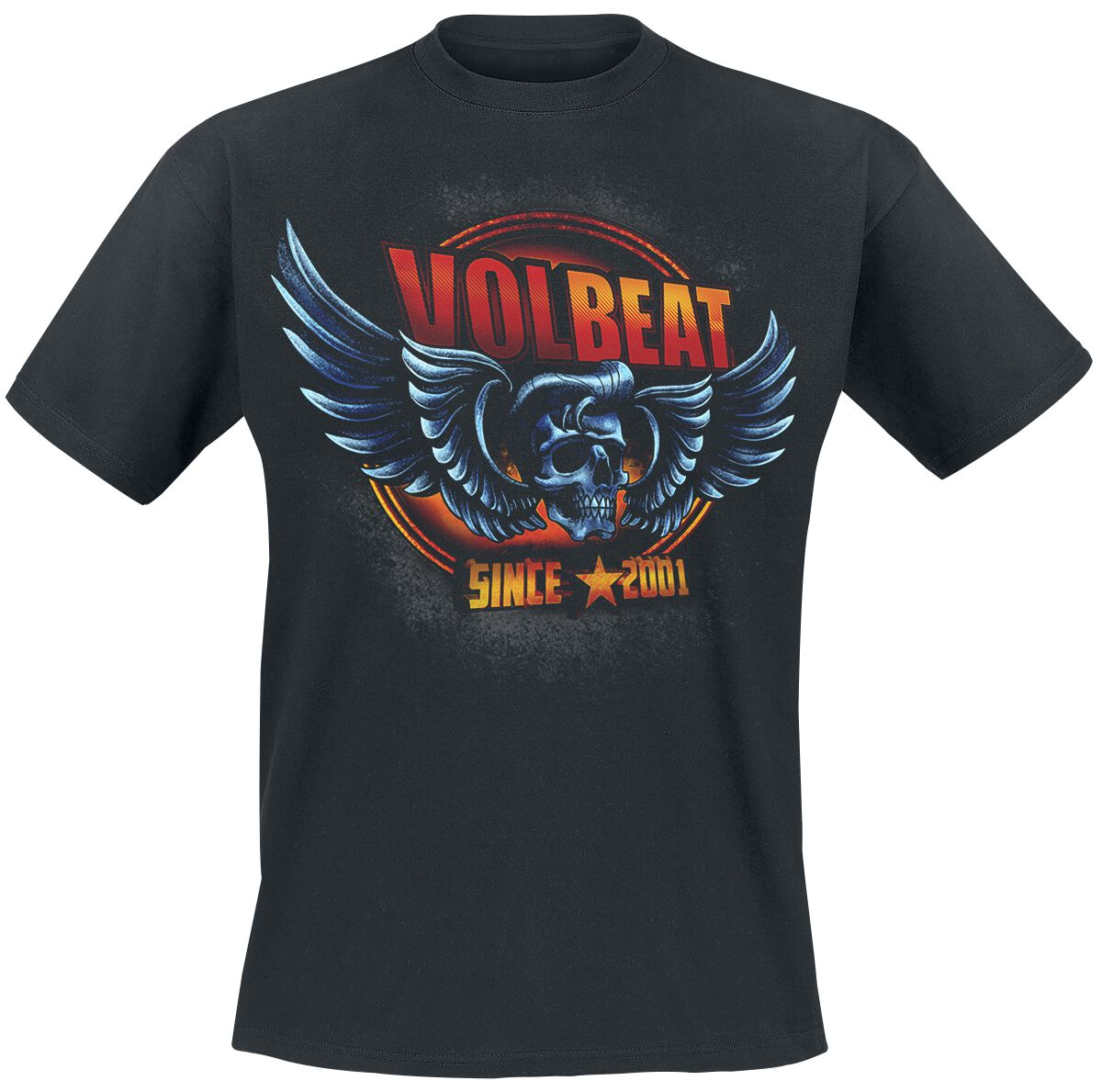 Image of   Volbeat Dimension Skullwing T-Shirt sort