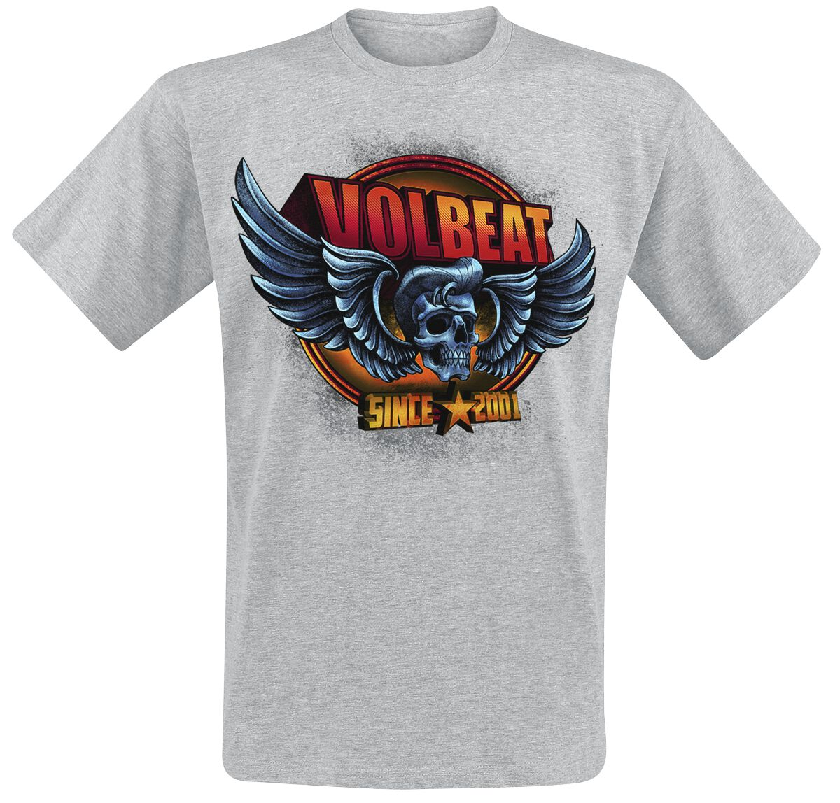Image of   Volbeat Dimension Skullwing T-Shirt grålig
