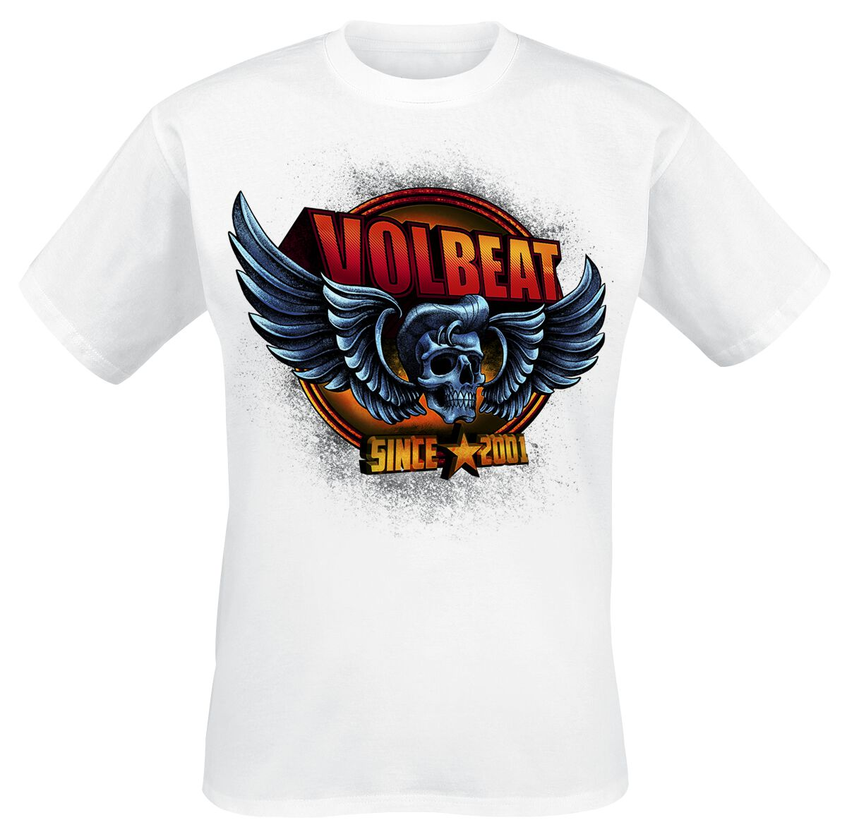 Image of   Volbeat Dimension Skullwing T-Shirt hvid