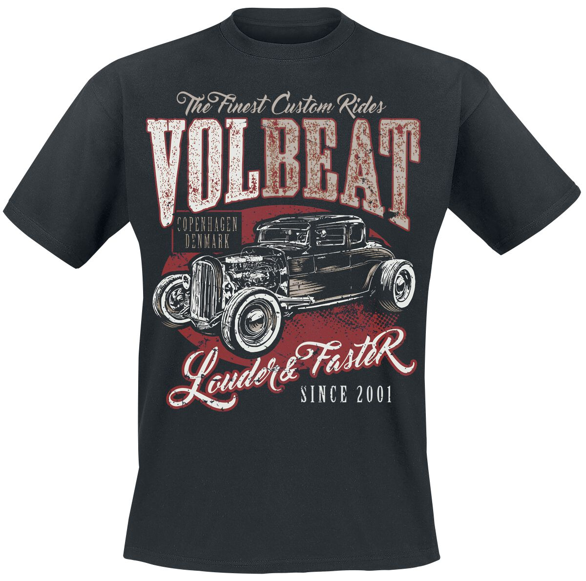 Image of   Volbeat Louder And Faster T-Shirt sort