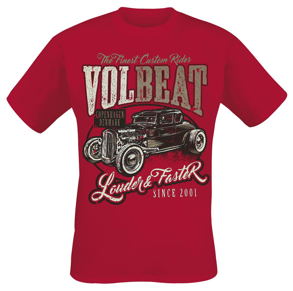 Image of   Volbeat Louder And Faster T-Shirt rød