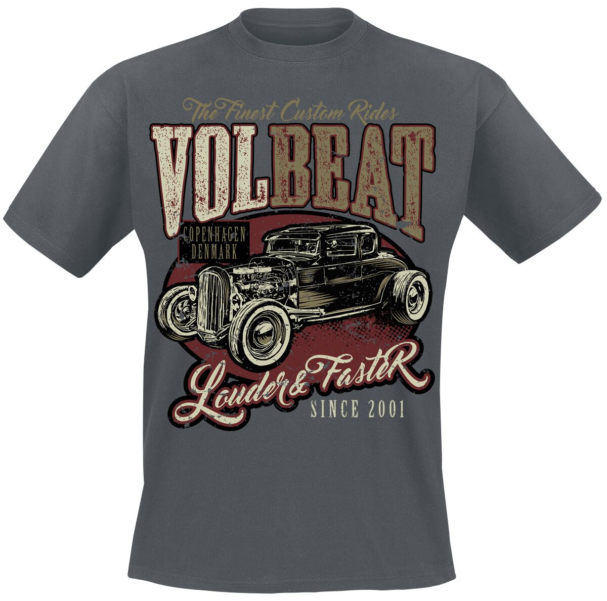 Image of   Volbeat Louder And Faster T-Shirt grå