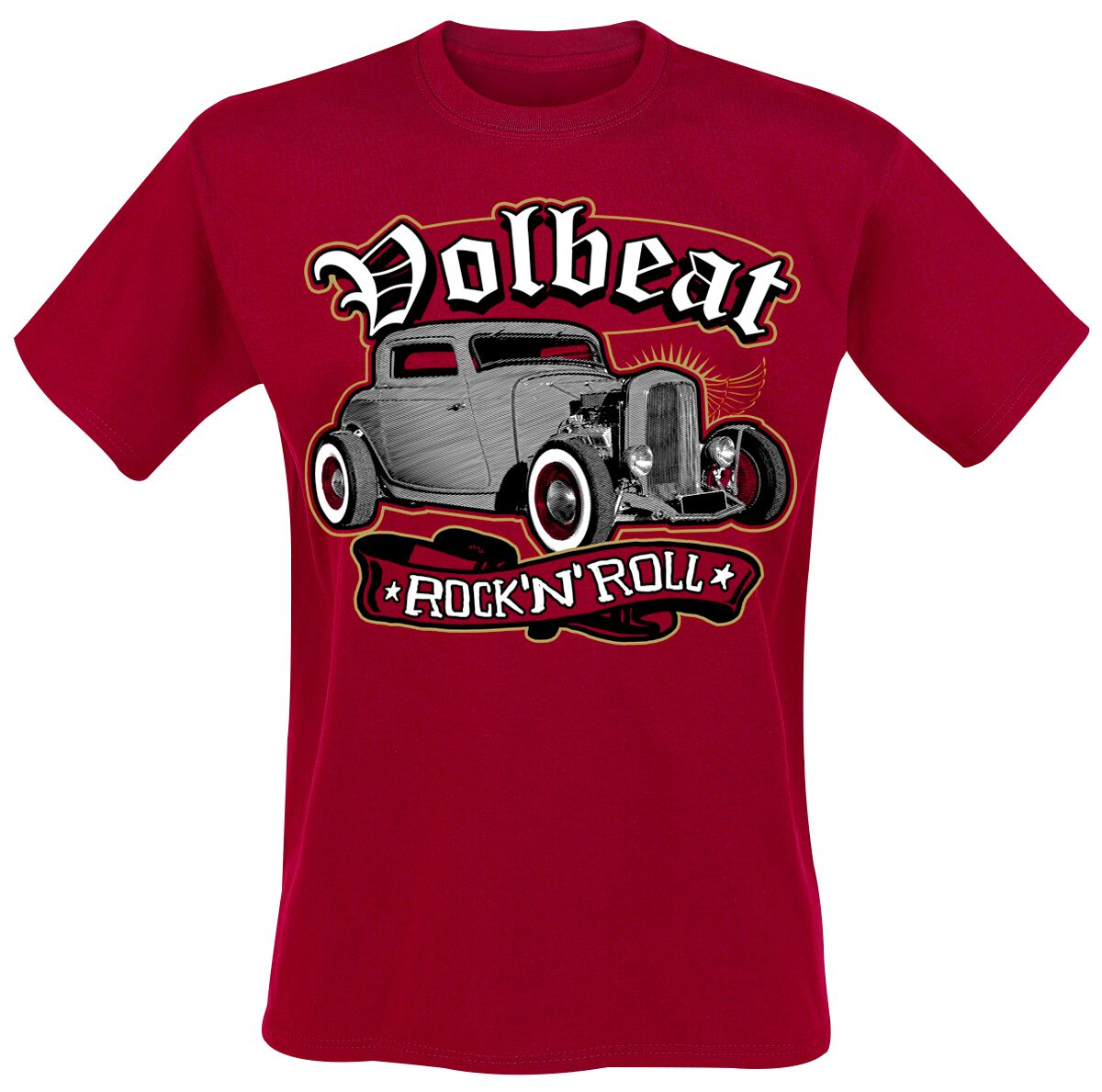Image of   Volbeat Rock'N'Roll T-Shirt rød