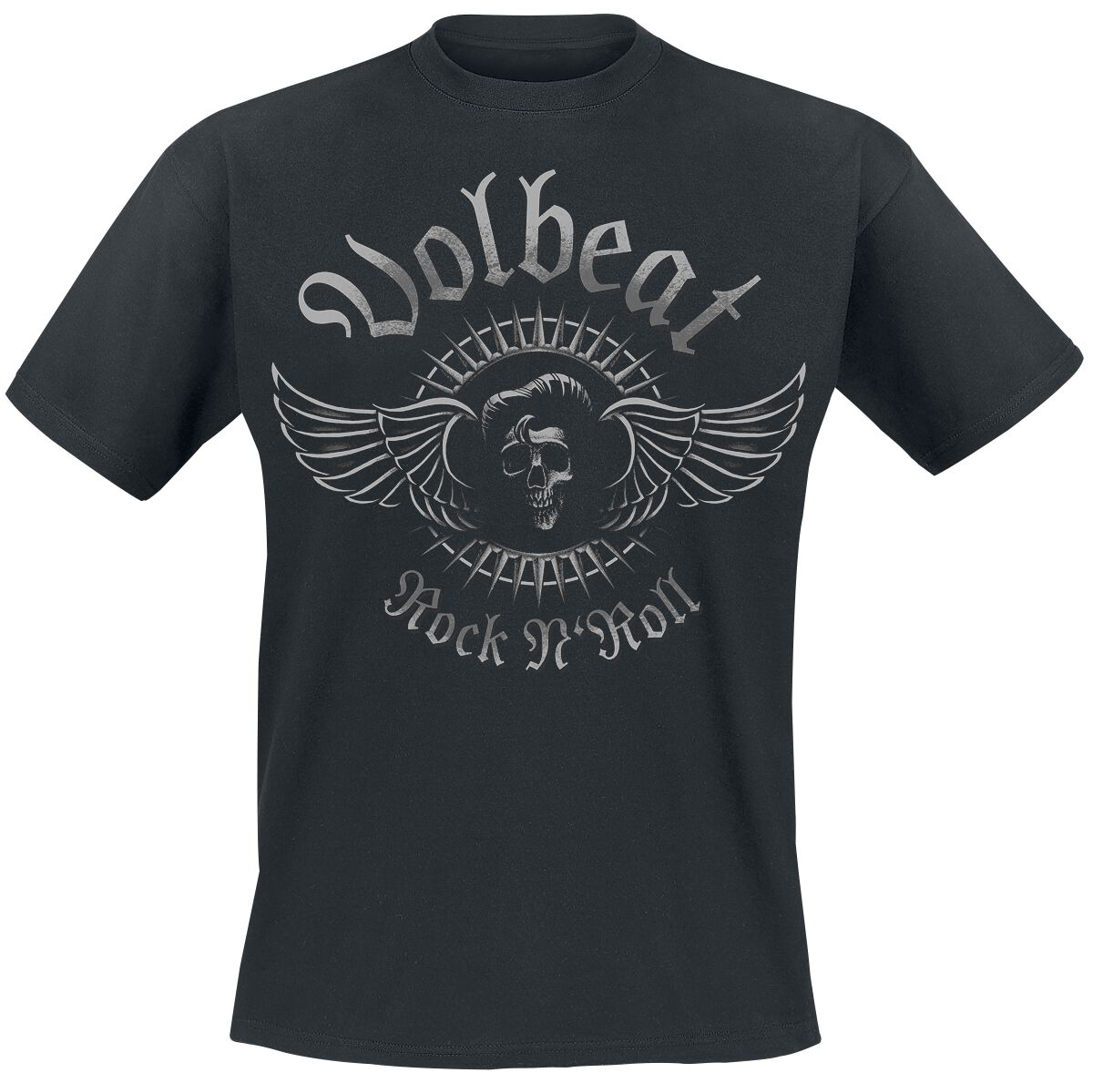 Image of   Volbeat Rock'N'Skull T-Shirt sort